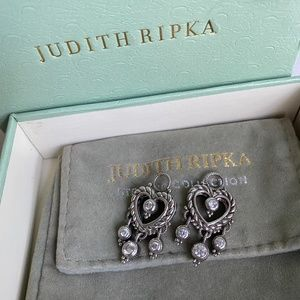 Judith Ripka sterling silver earring charms only